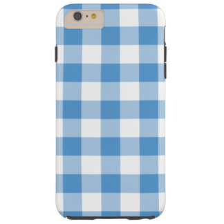Baby Blue and White Gingham iPhone 6 Plus Case