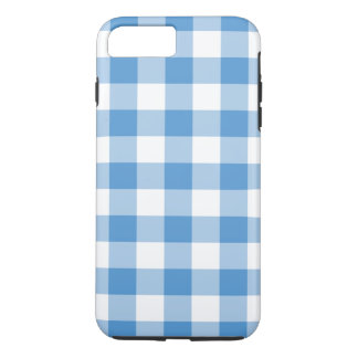 Baby Blue and White Gingham iPhone 7 Plus Case