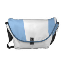 Baby Blue and White Messenger Bag