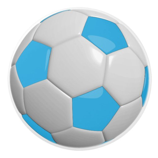 Blue white soccer ball