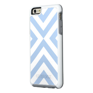 Baby Blue and White V-shape Pattern OtterBox iPhone 6/6s Plus Case
