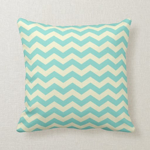 Throw Pillows Yellow And Blue : Baby Blue and Yellow Zig Zag Pattern Throw Pillow Zazzle