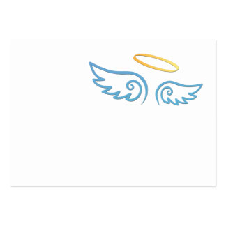 Baby Blue Angel wings with Halo Large Business Card