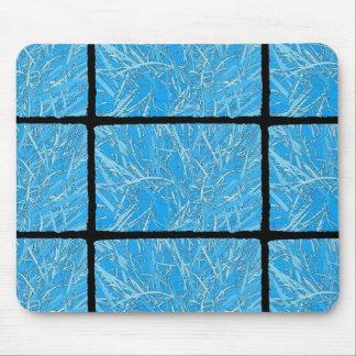 Baby Blue Aqua Tangled Grass Design Mouse Pad