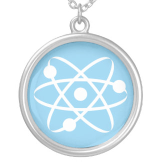 Baby Blue Atom Necklaces