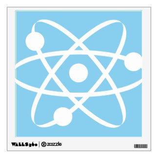 Baby Blue Atom Wall Skins
