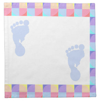 Baby Blue Baby Footprint Napkins