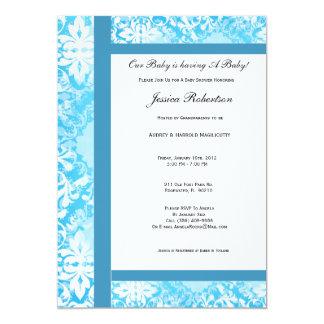 Baby Blue Baby Shower Invitation