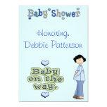 Baby Blue Baby Shower Invites