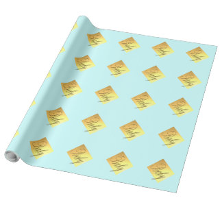 Baby Blue Baby Shower Wrapping Paper
