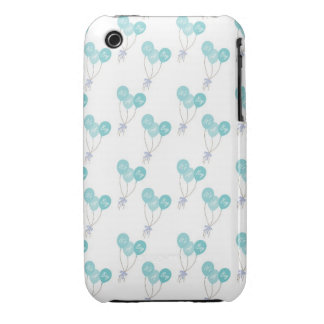 Baby Blue Balloon Party Pattern Case-Mate iPhone 3 Cases
