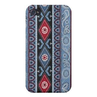 Baby Blue Bandana Hard Shell Case for iPhone 4