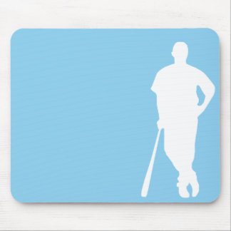 Baby Blue Baseball Mouse Pad