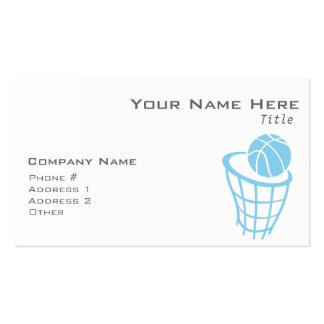 Baby Blue Basketball Double-Sided Standard Business Cards (Pack Of 100)