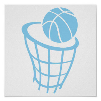 Baby Blue Basketball Poster