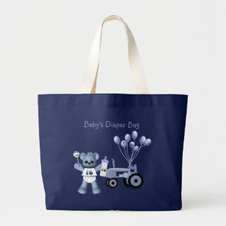 Baby Blue Bear and Blue Tractor Diaper Bag