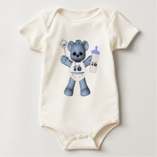 Baby Blue Bear and Blue Tractor T-Shirt