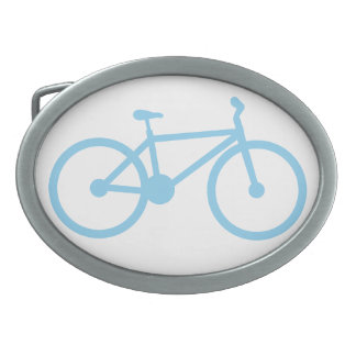 Baby Blue Bicycly Belt Buckle