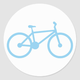 Baby Blue Bicycly Classic Round Sticker