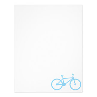Baby Blue Bicycly Customized Letterhead
