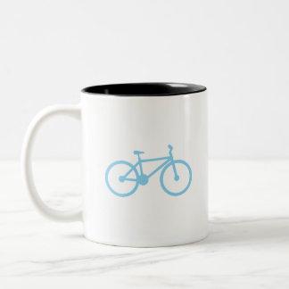 Baby Blue Bicycly Two-Tone Coffee Mug