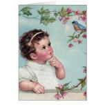 Baby Blue Bird Greeting Card