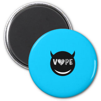 Baby Blue Black Vape Heart Rebel 2 Inch Round Magnet