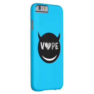 Baby Blue Black Vape Heart Rebel Barely There iPhone 6 Case