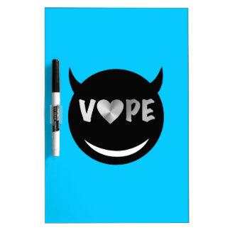 Baby Blue Black Vape Heart Rebel Dry Erase Board
