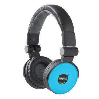 Baby Blue Black Vape Heart Rebel Headphones