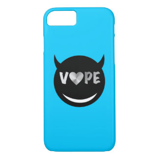 Baby Blue Black Vape Heart Rebel iPhone 7 Case