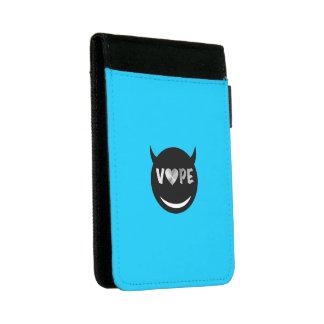 Baby Blue Black Vape Heart Rebel Mini Padfolio