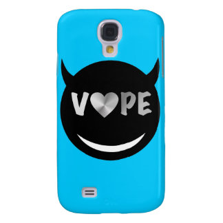 Baby Blue Black Vape Heart Rebel Samsung Galaxy S4 Cover