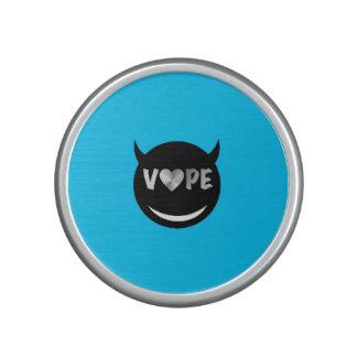 Baby Blue Black Vape Heart Rebel Speaker