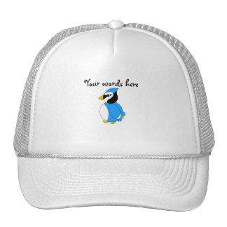 Baby blue blue jay trucker hat