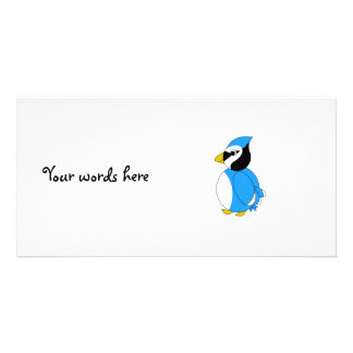 Baby blue blue jay personalized photo card