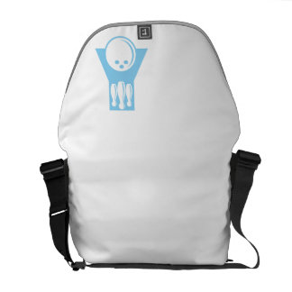 Baby Blue Bowling Messenger Bag