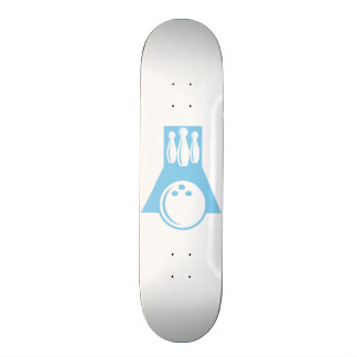Baby Blue Bowling Skateboard Deck