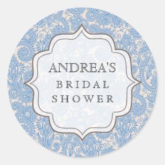 Baby Blue Bridal Shower Dessert Table Tag Label