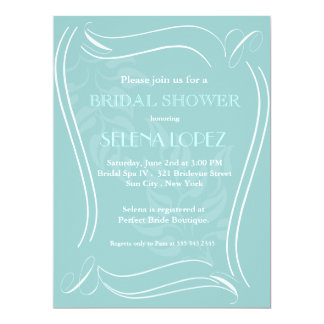 Baby Blue Bridal Shower invitations