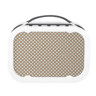 Baby Blue, Brown, Small Polka Dots Yubo Lunchboxes