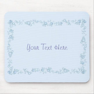 Baby Blue Bubble Border Design Customized Mouse Pad