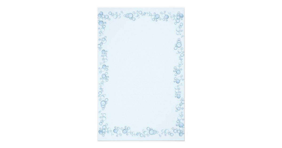 baby blue bubble border design stationery zazzle com