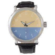 Baby Blue Buff Wristwatches