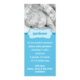 Baby Blue Bundle of Joy Photo Birth Announcements