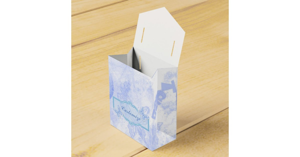 Blue Lightning Favor Boxes : Baby blue butterfly favor box zazzle