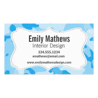 Baby Blue Camo; Camouflage Business Cards
