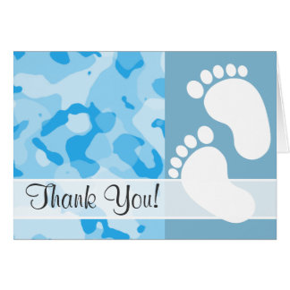 Baby Blue Camo; Camouflage Stationery Note Card