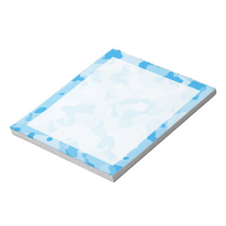 Baby Blue Camo; Camouflage Notepad