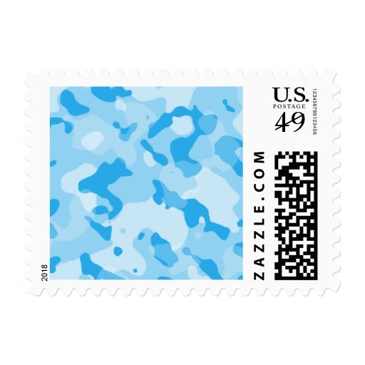Zazzle Baby Blue Camo; Camouflage Postage